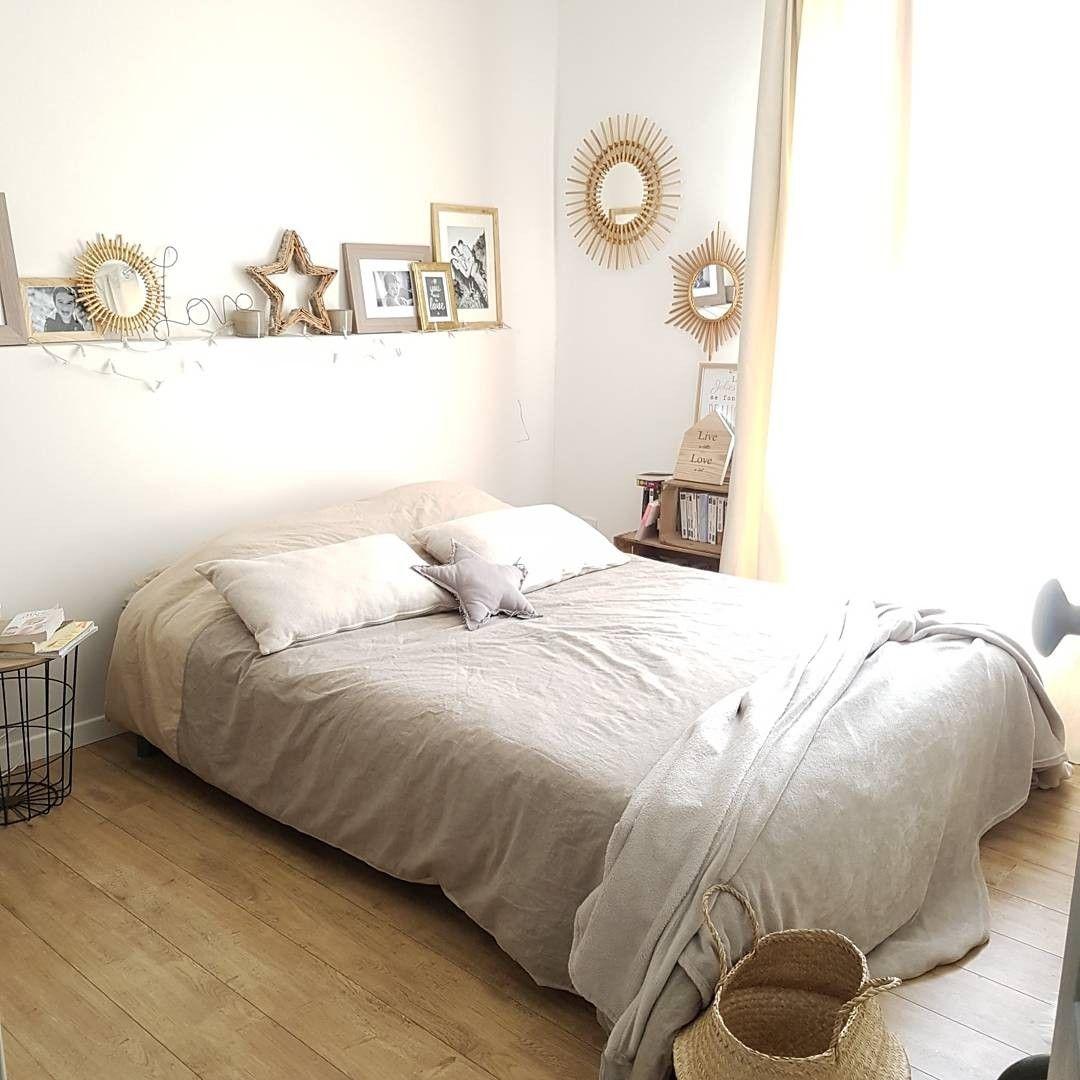 Chambre parentale Beige Osier Rotin Rénovation chambre en 17