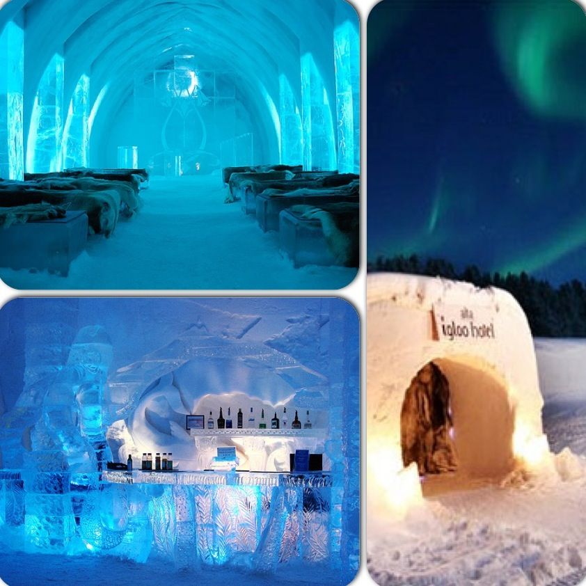 Ice Hotels Hotel De Glace Quebec Canada Snow
