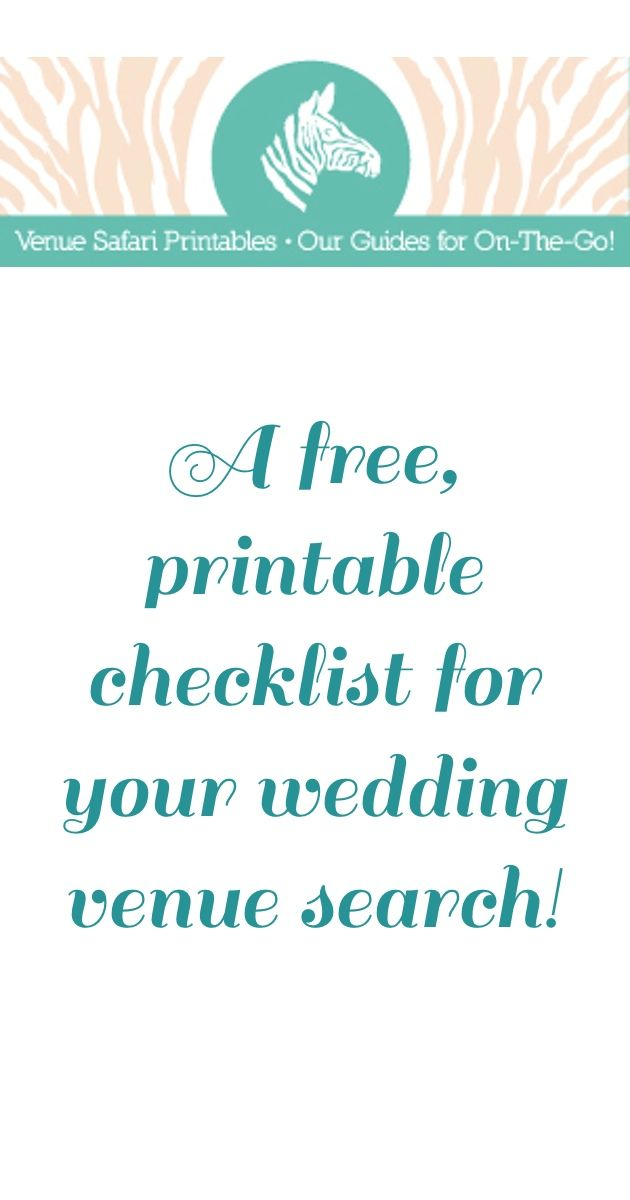 Free Printable Wedding Venue Search Checklist | Weddings