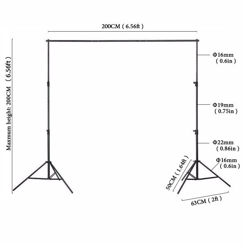 Encontrar Más Fondo Información acerca de 2x2 m Marco de Aluminio de ...