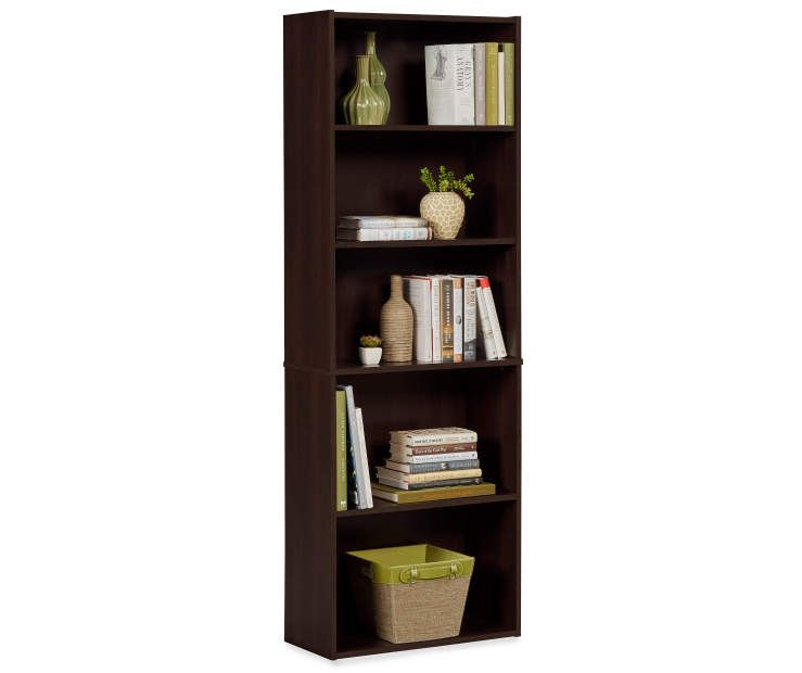 Buy a Dark Russet 5-Shelf Bookcase at Big Lots for less ...