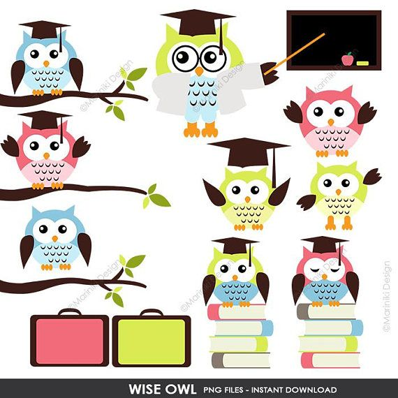 Owl Clipart, Wise Owls Clip Art, Back To School Clip Art ...