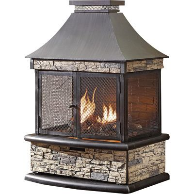 Shinerich Propane Outdoor Fireplace 24 000 BTU Model