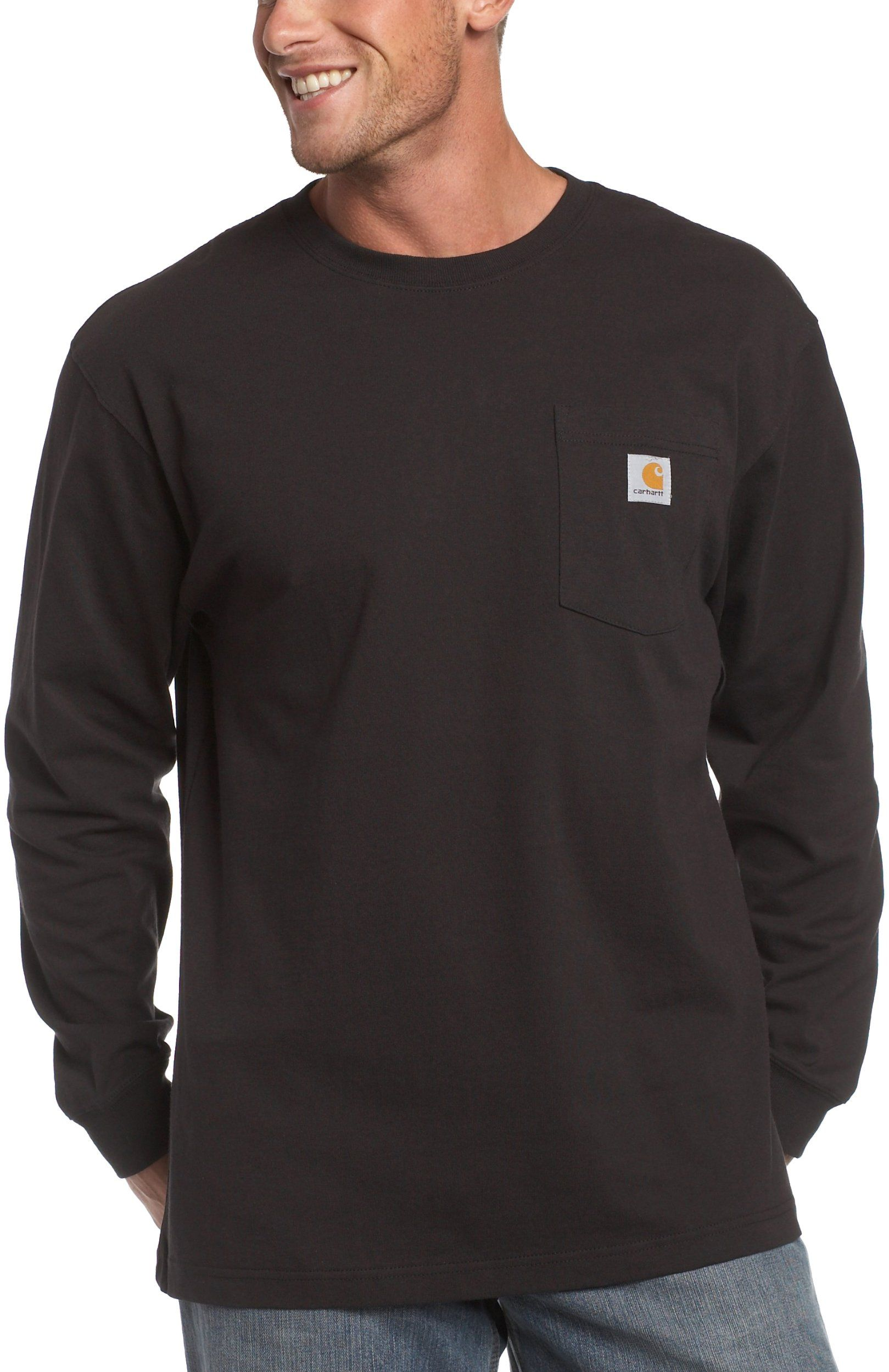 1222e2def3b Amazon.com  Carhartt Men s Workwear Pocket Long Sleeve T Shirt  Work  Utility Shirts  Clothing