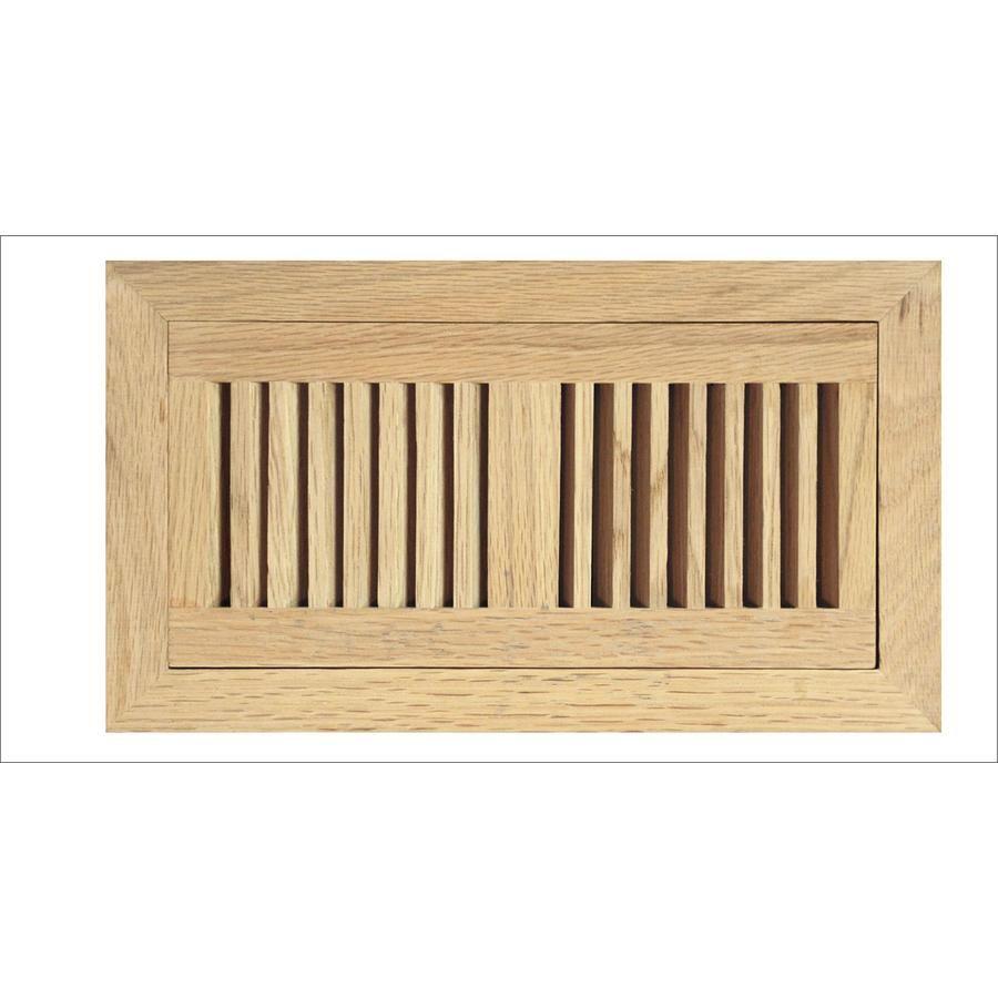 Accord Select Oak Wood Floor Register Duct Opening 4 In X 10 In Outside 6 8 In X 12 22 In Floor Registers Oak Floors Staining Wood Floors