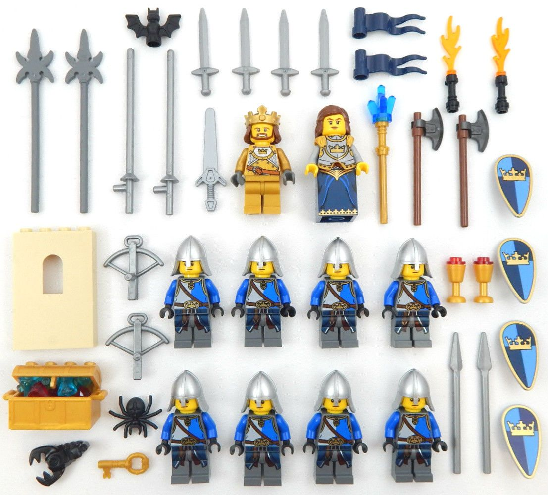 LEGO LOT OF 2 KING MINIFIGURES VINTAGE CASTLE LION KNIGHTS WITH CROWNS