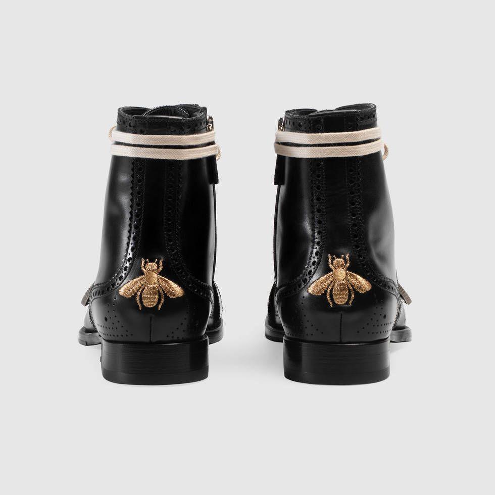 Bottes Richelieu Brodé Gucci Queercore - Noir Um274rKC5v