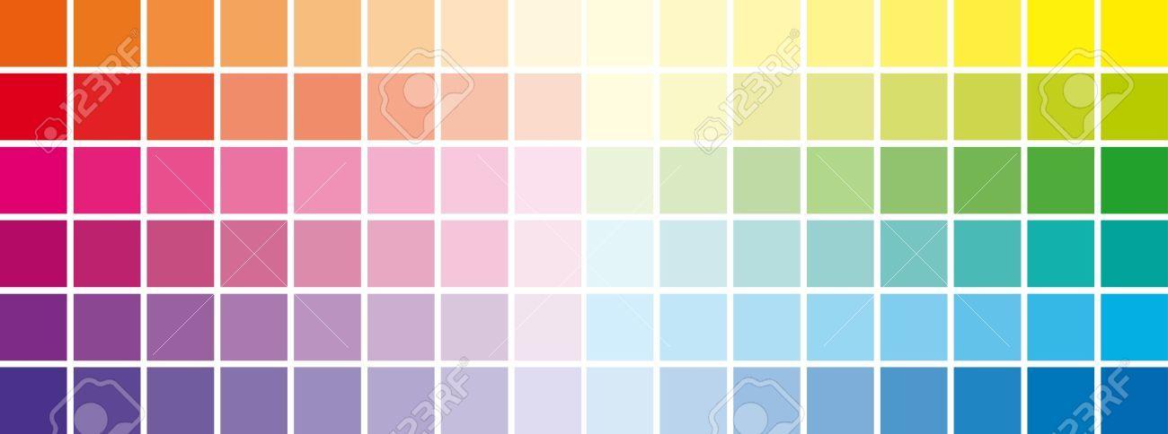 Cuadros Crom?ticos Escala Todos Los Colores Ilustraciones Vectoriales, Clip Art Vectorizado Libre De Derechos. Pic 19872387.