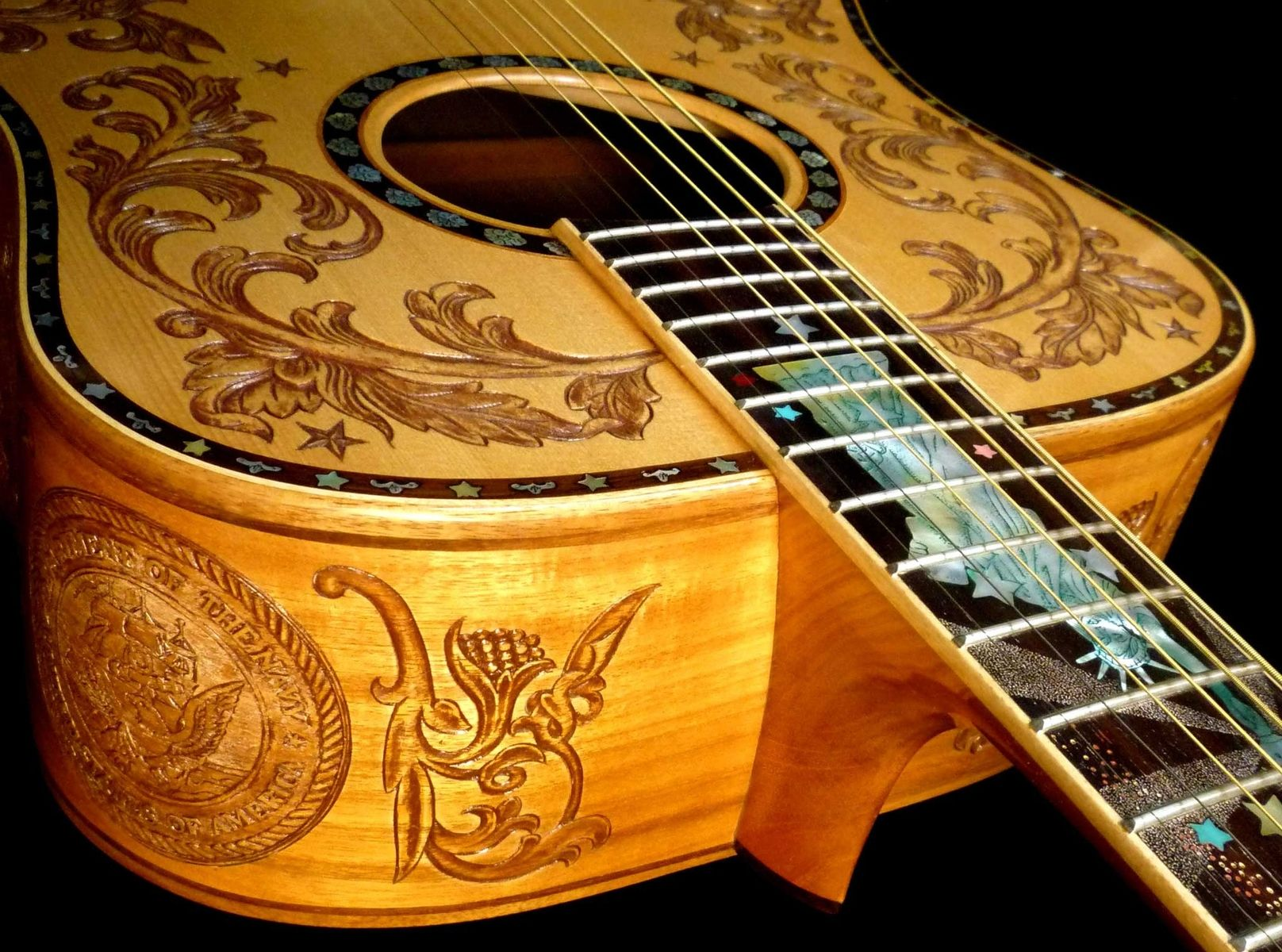Blueberry Custom Patriot Dreadnought Acoustic Guitar Acoustic Guitar Guitar Custom Acoustic Guitars