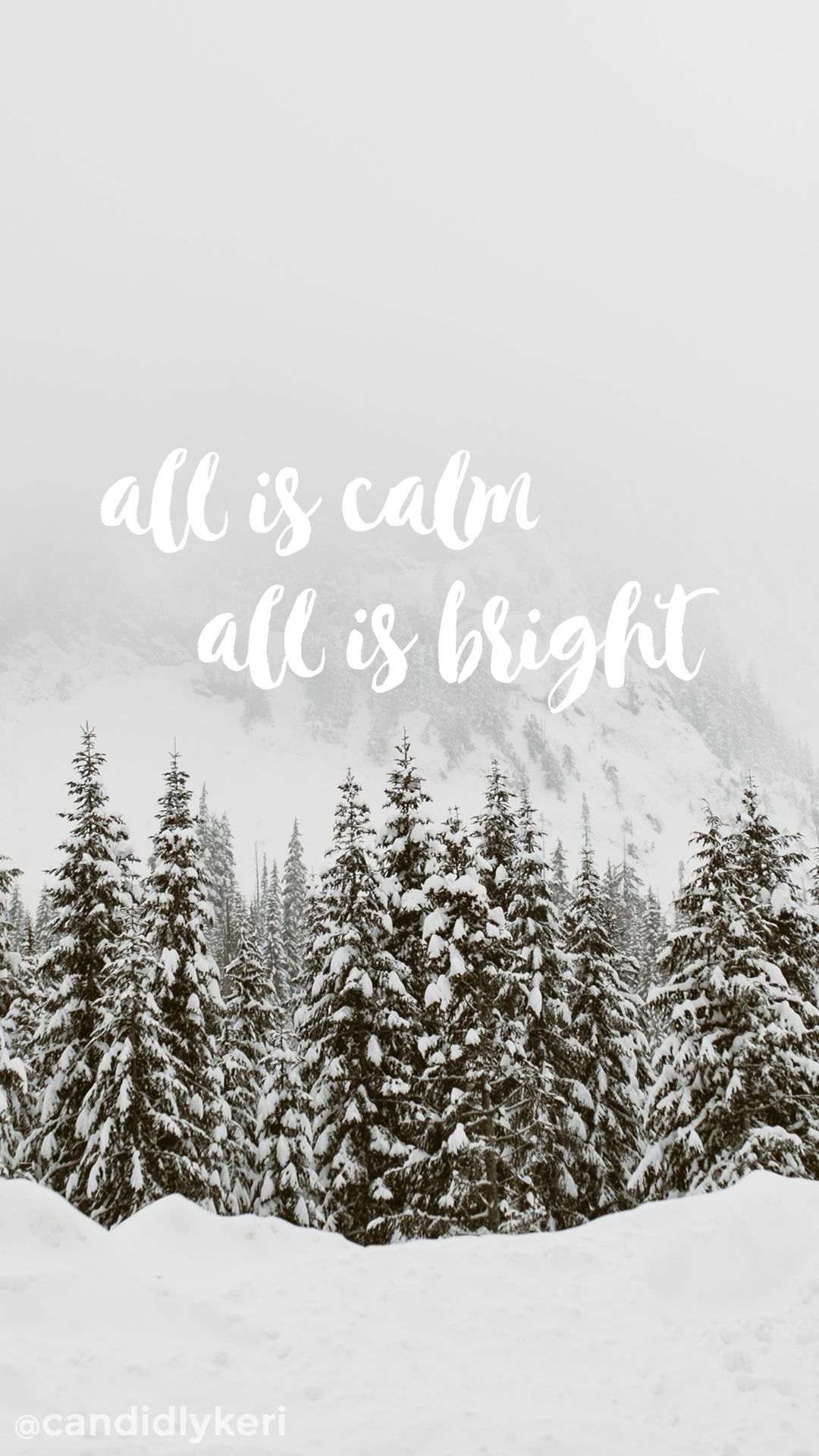 All Is Calm All Is Bright Background Wallpaper You Can Download For Free On The Blog For Any Device Holiday Wallpaper December Wallpaper Christmas Wallpaper