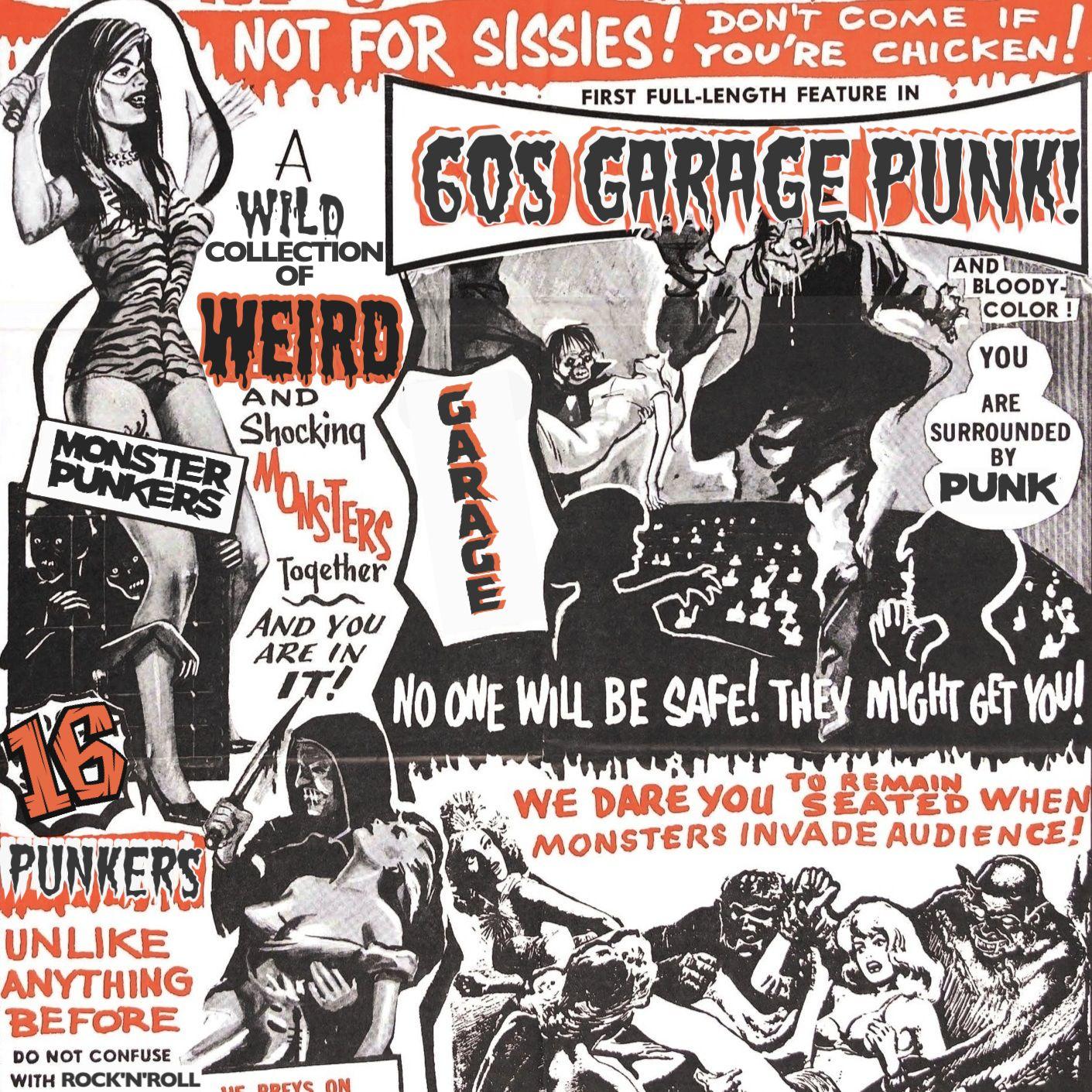 Va 60s Monster Garage Monster Garage Teenage Werewolf Psychobilly