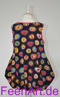 Kleidchen mit Reh und Pilz - von hinten