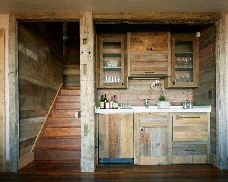 diseos de planos muebles de cocina hechas de paletas de maderas