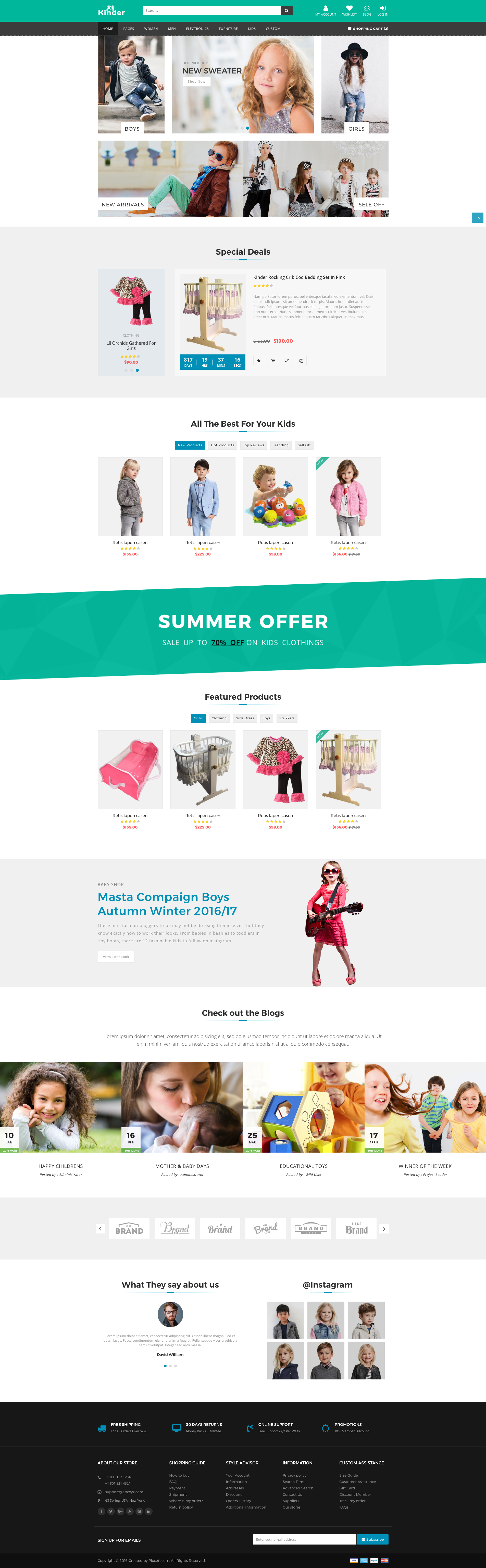 Kids Store Premium Template. This Bootstrap Multipurpose eCommerce ...