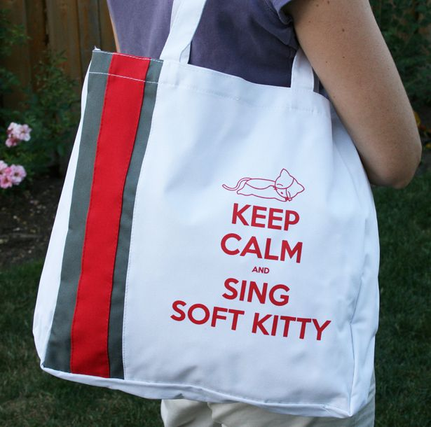 """Accessories """"Keep Calm and sing Soft Kitty"""""""