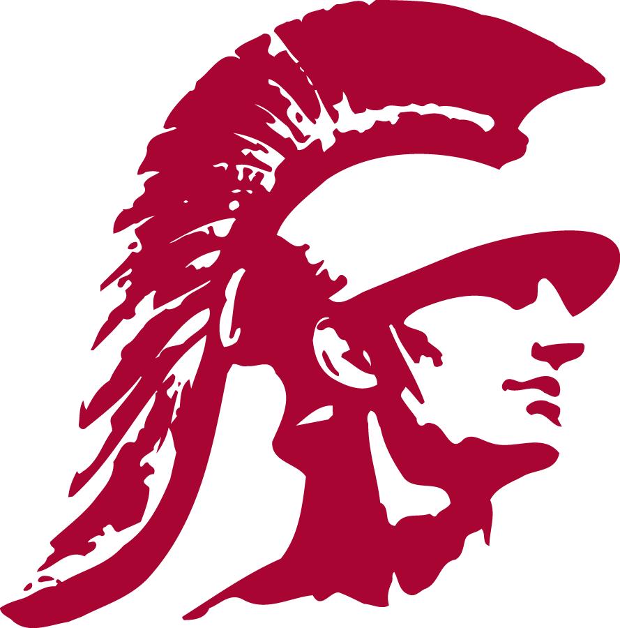 southern california trojans alternate logo 0 trojan s head rh pinterest com trojan head mascot clip art trojan head mascot