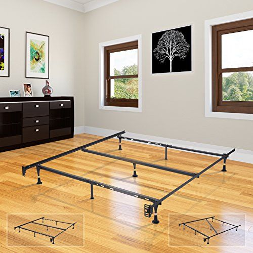 Heavy Duty Metal 7leg Adjustable Queen Full Full Xl Twin Twin Xl Bed Frame With Center Support Glides You Ca