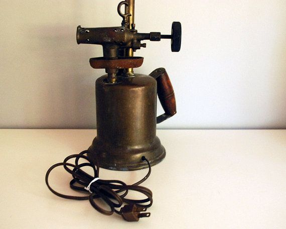 Antique Blow Torch Table Lamp Industrial Lighting от