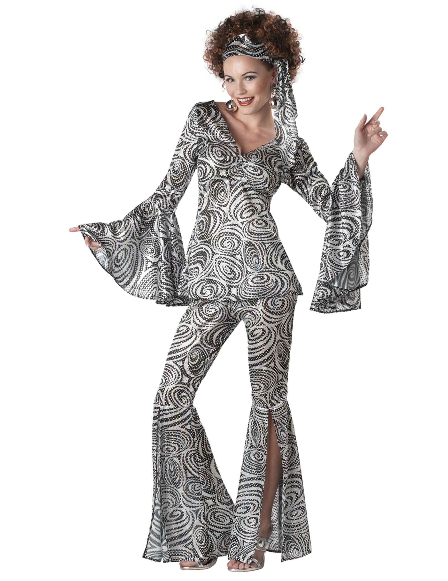 70er Disco Psychodelic Damenkostüm Snygga kläder