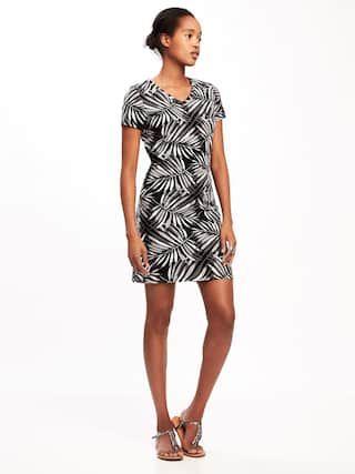 67ba71c5bb7 Fitted V-Neck Tee Dress for Women