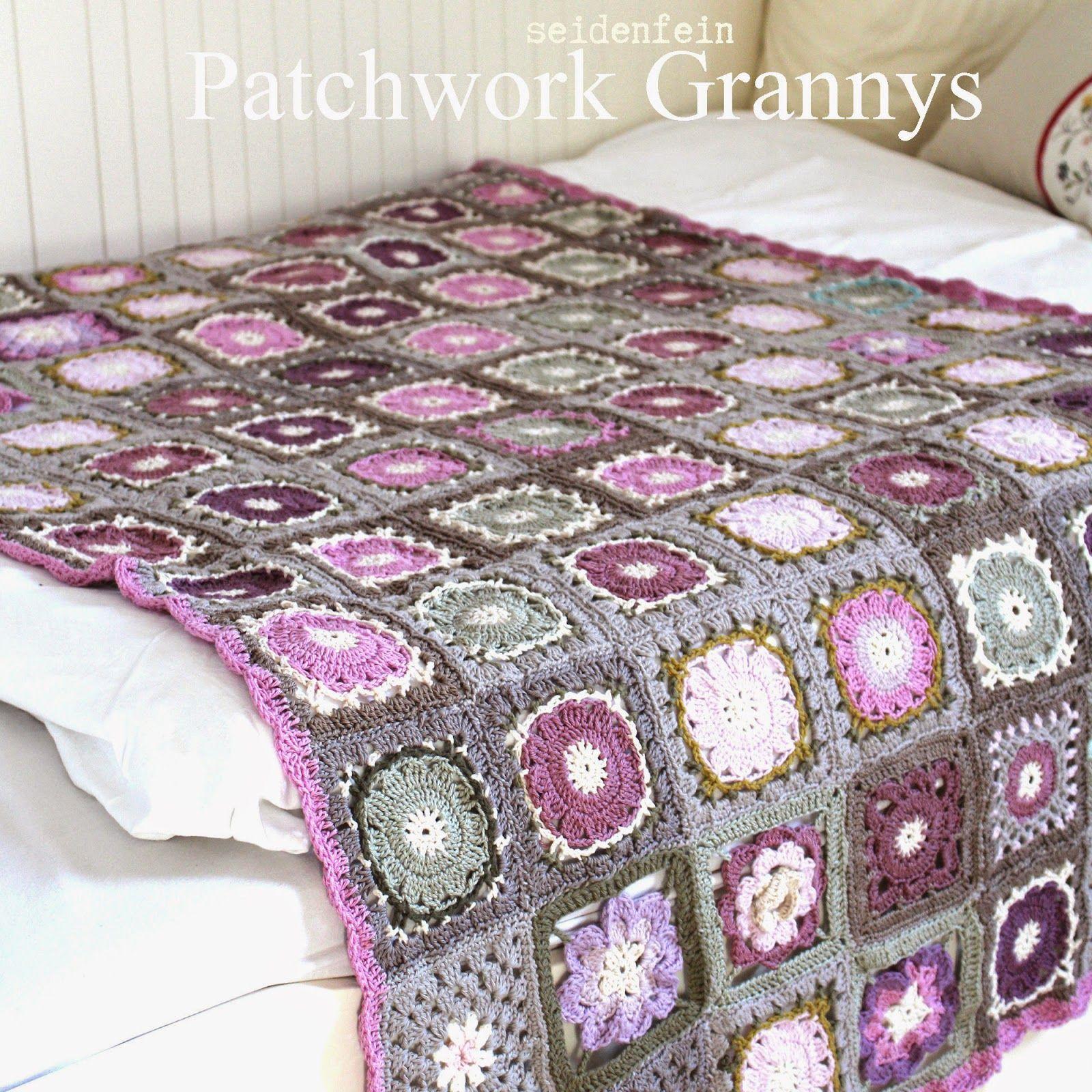 seidenfeins dekoblog h keldecke aus patchwork grannys crochet blanket no 3 h keln. Black Bedroom Furniture Sets. Home Design Ideas