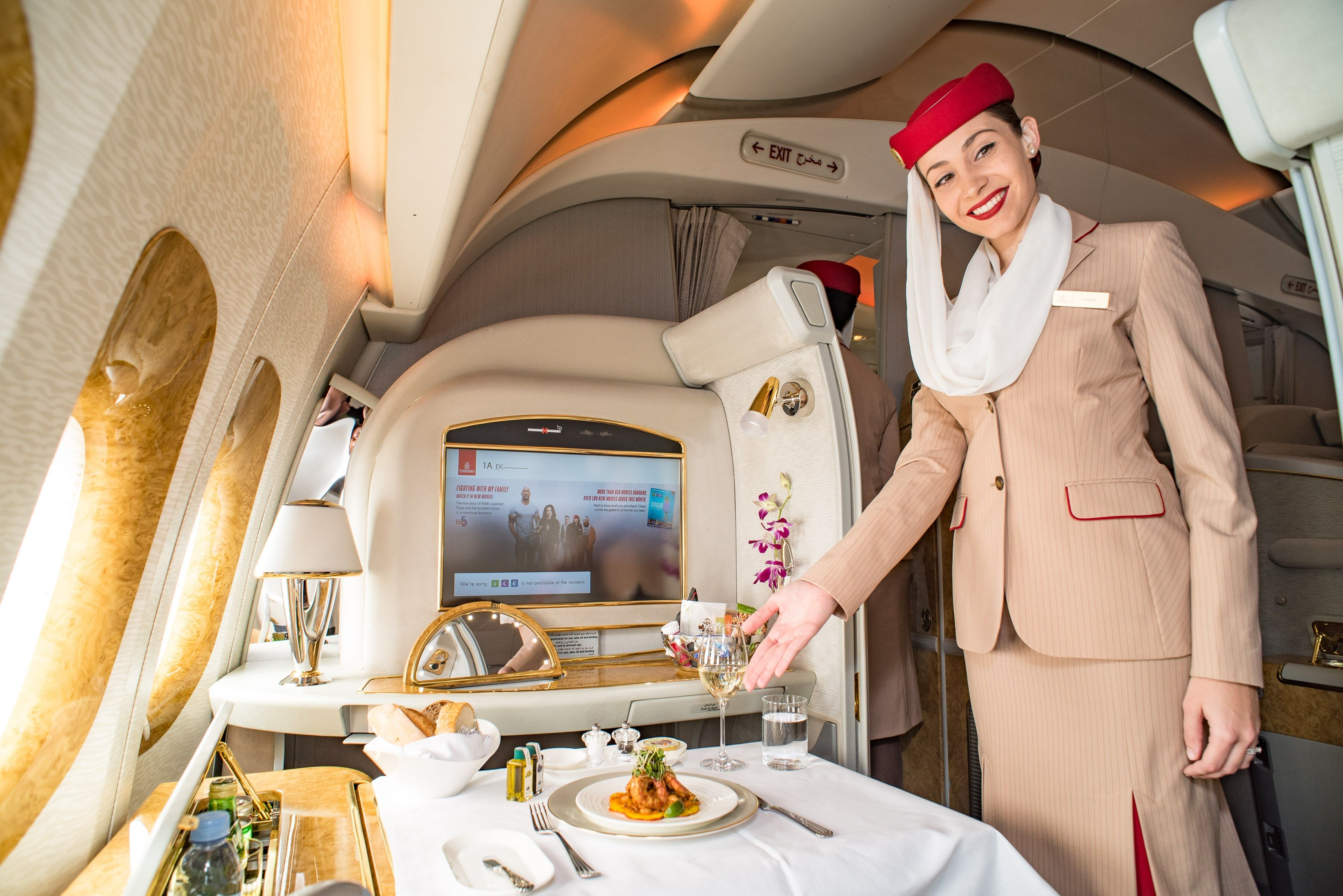 Emirates Passenger Self Upgrades To First Class Assaults And