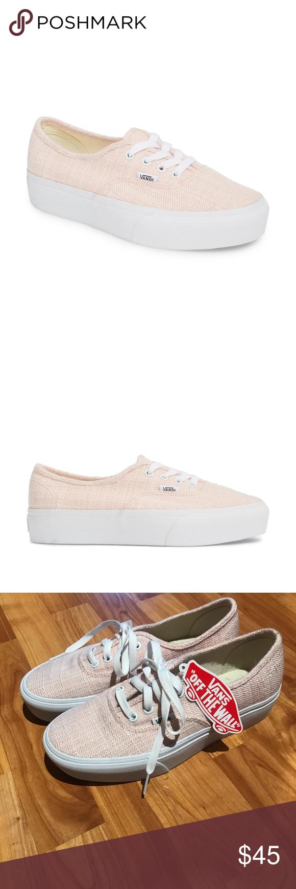 7a513e6b8da7d5 BRAND NEW Vans Authentic 2.0 Platform Size 8 Bella Rosa True White platform  sneaker. Never been worn Vans Shoes Sneakers
