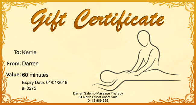 Free Massage Gift Certificate Template 01 Gift Template Tammy