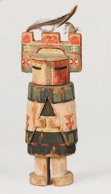 Kachina SIO HEMIS HOPI , circa 1940 Le masque est sommé d'une tableta