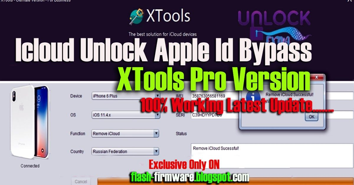 DownloadIcloud Unlock Apple Id Bypass XTools Pro Version