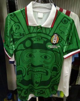 b7936947a Mexico Home Green 1998 Retro Jersey  F648