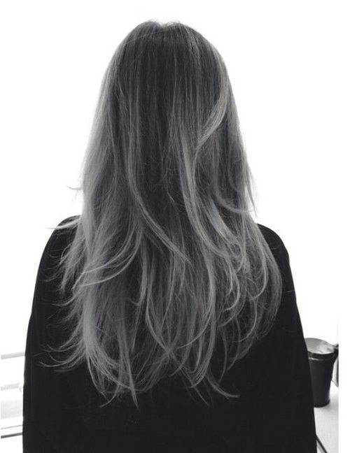 Black To Grey Ombre Hair Google Search