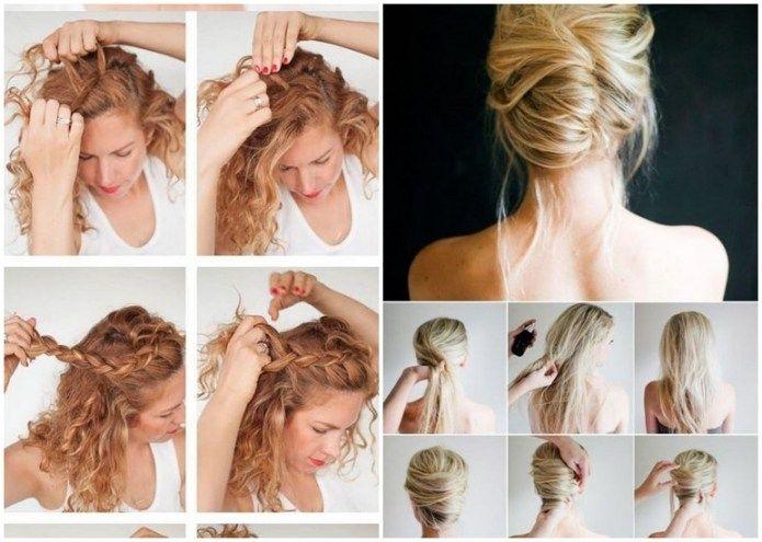 Elegant Schöne Frisuren Mittellanges Haar Selber Machen Bilder Mit