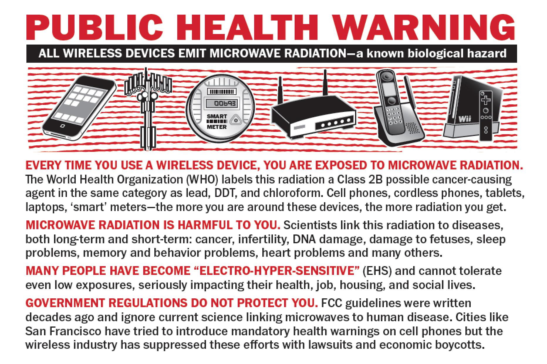 Wireless Warning https://www.stopsmartmeters.org/warning http://www ...