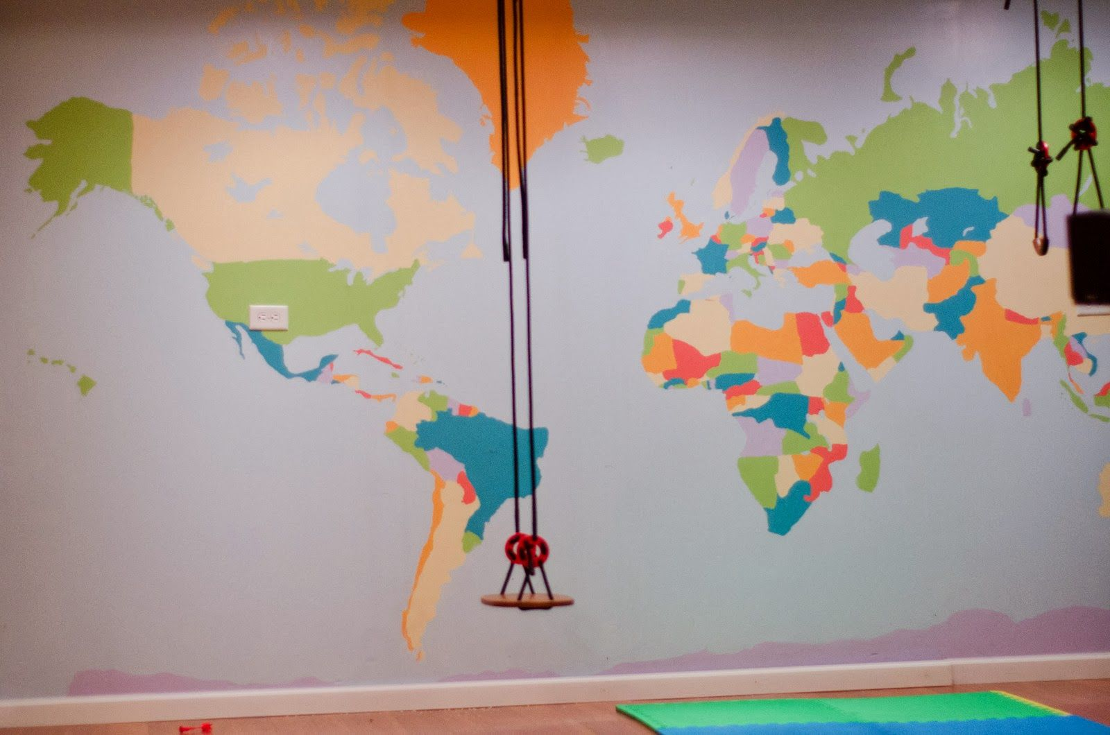 World Map In A Playroom CC Cycle Weeks Pinterest - World map for playroom