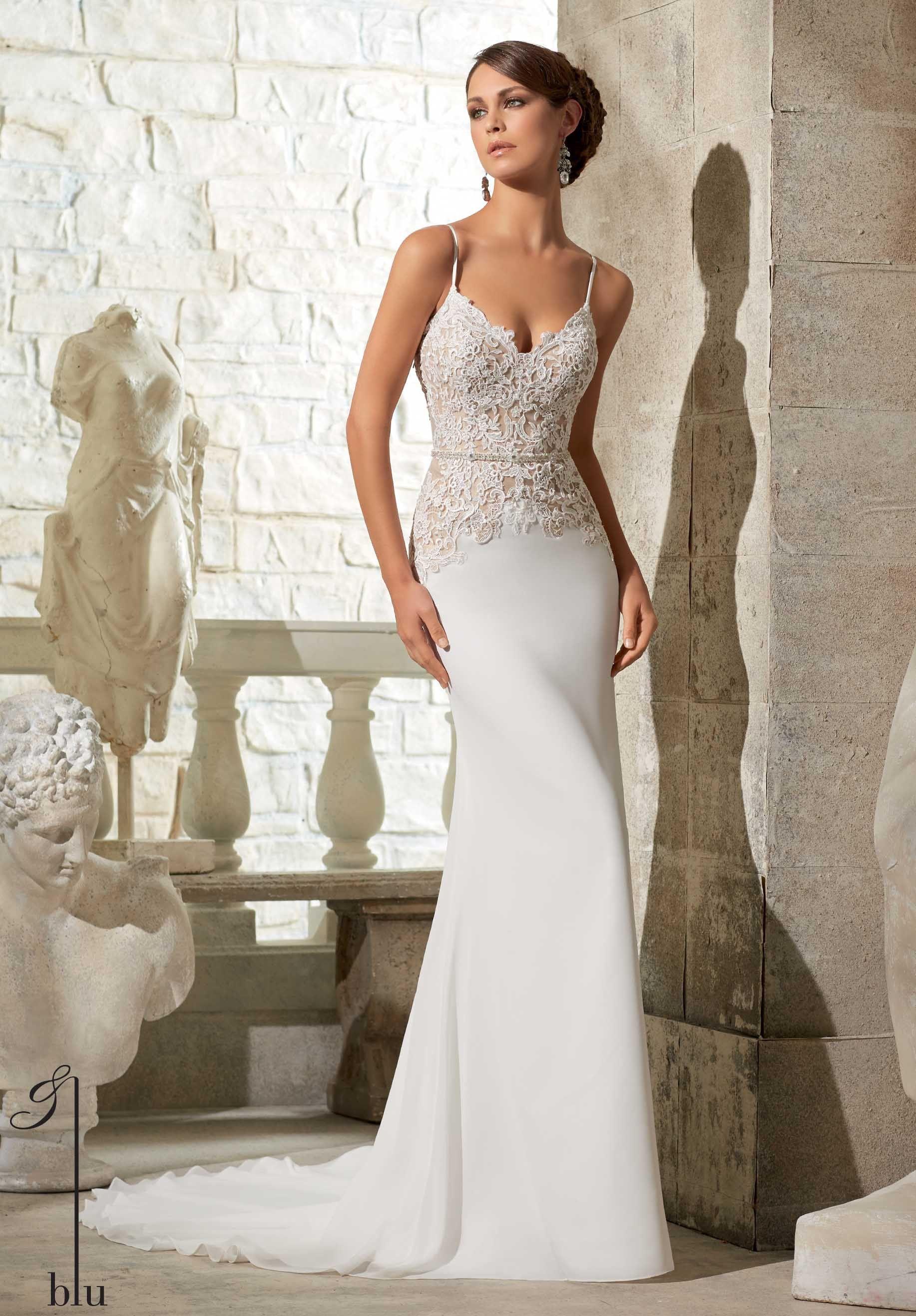 Imagenes de vestidos de novia pegados al cuerpo