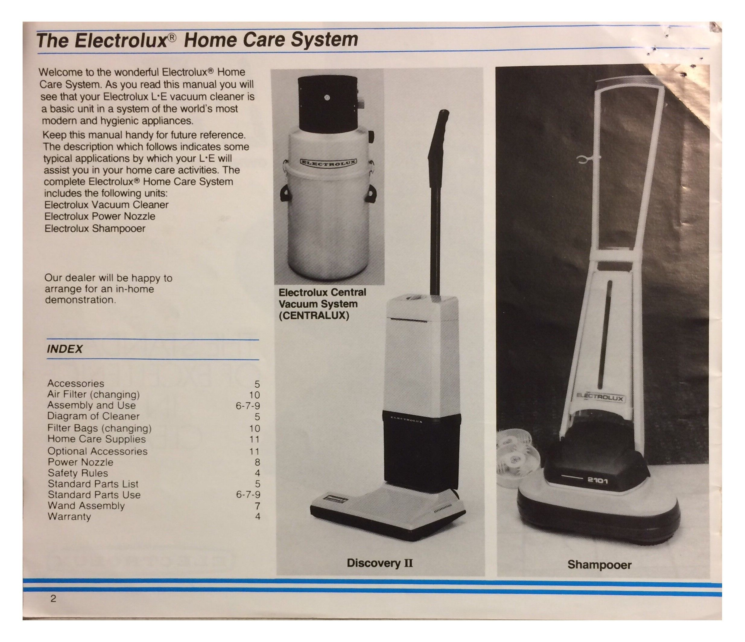 medium resolution of le electrolux limited edition vacuum cleaner manual pg 2