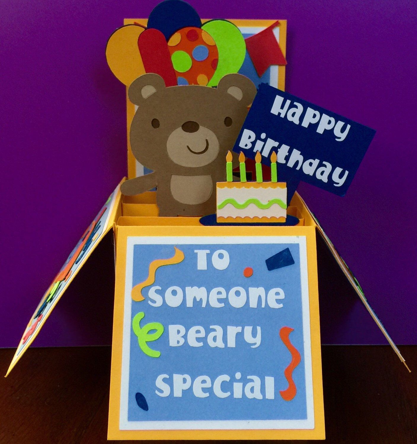 A personal favorite from my Etsy shop https://www.etsy.com/listing/261401126/3d-pop-up-birthday-boy-box-card