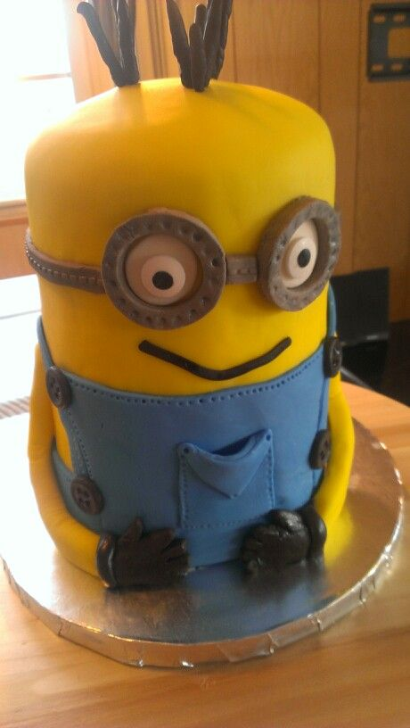 Minion Cake For A 7 Year Old Birthday Boy