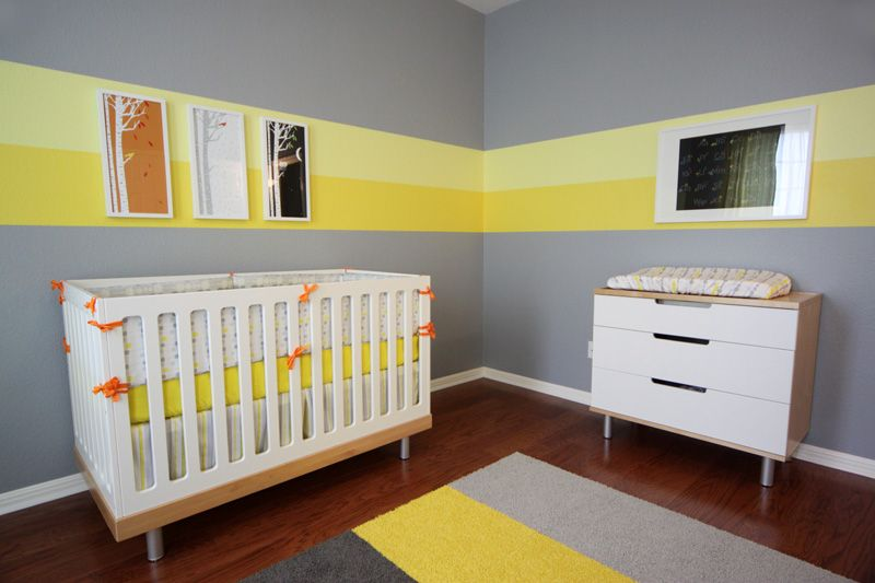 Nursery Trend Alert Color Blocking With Images Grey Baby Room