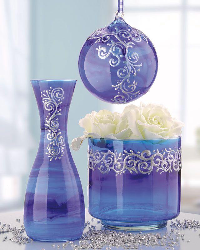 D coration de verres avec la peinture sur verre brico for Peinture sur verre