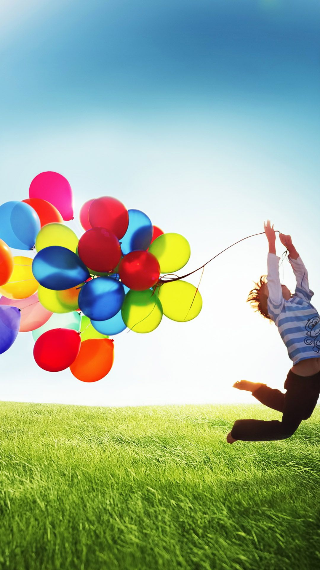 Colorful Balloons Stock Lock Screen Android Wallpaper