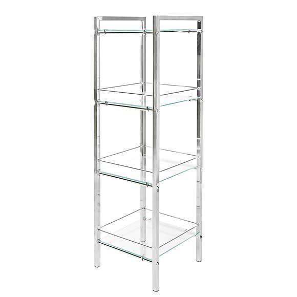 4 Tier Shelf Unit Dunelm In 2020 Tempered Glass Shelves 4