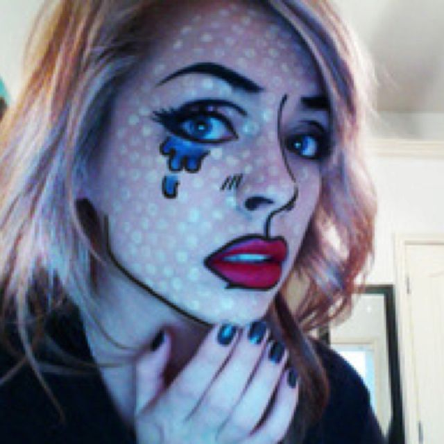 Love the classic comic book look - Comic book makeup | Pinterest