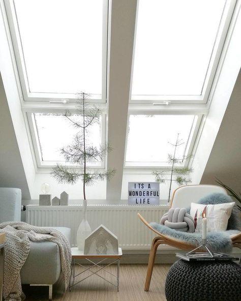 eingeSCHNEIT | Winter wohnzimmer, Dachgeschosse und Dachschräge