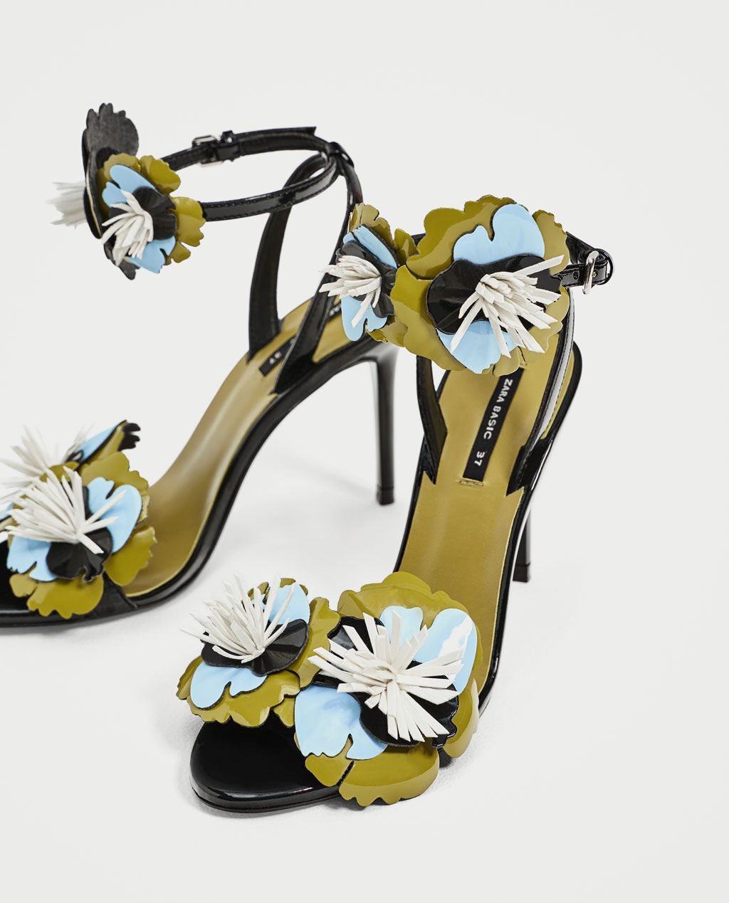 4f3b6e5ed83 HIGH HEEL SANDALS WITH FLORAL DETAILS-View all-SHOES-WOMAN | ZARA ...