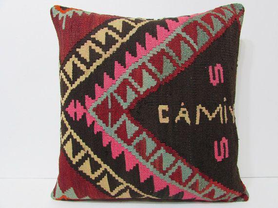 Kilim pillow 24x24 big pillow case big kilim pillow big pillow