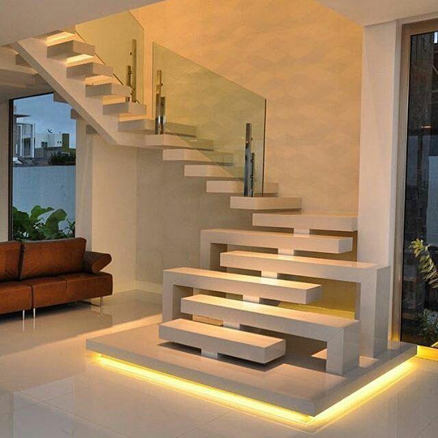 Model tangga rumah mewah terbaru contemporary stairs modern staircase interior design house also pinterest rh