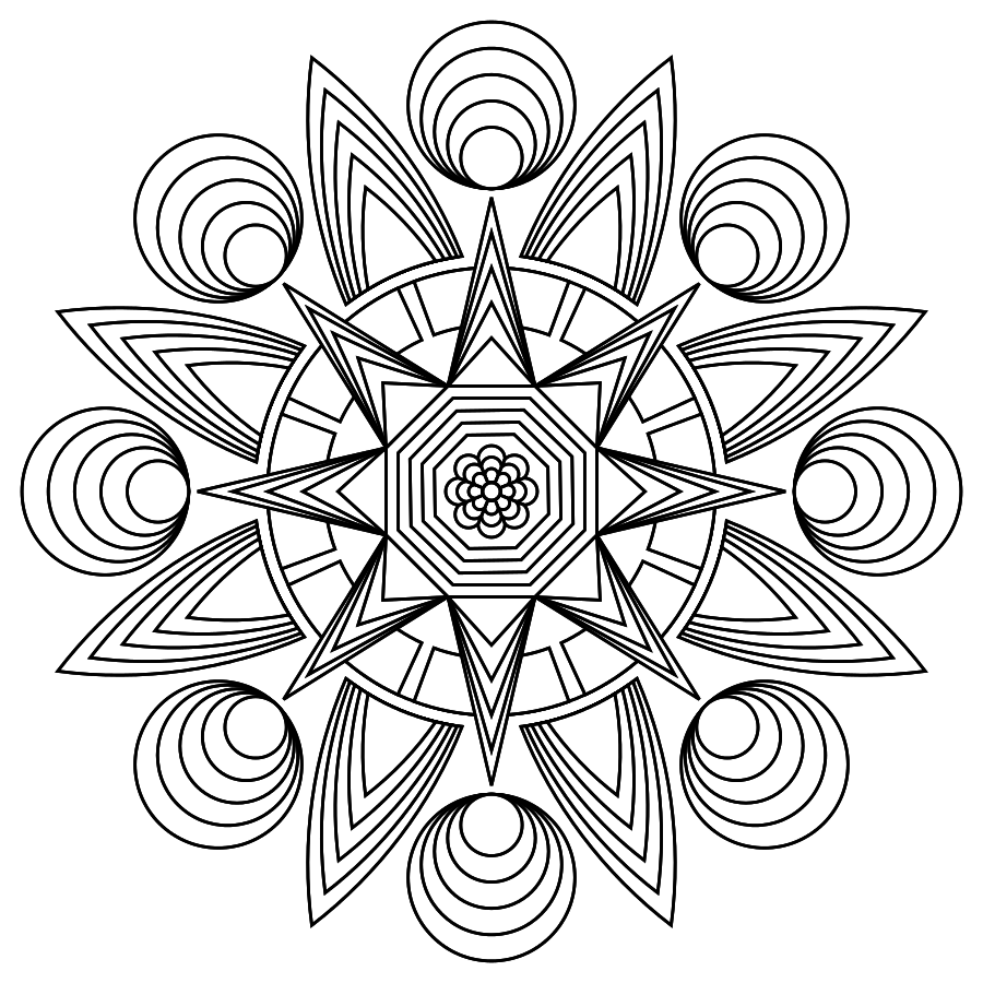 Print Color Design And Share Mandalas GelBeeCreate BeeColorful My Favorite Coloring Pages Are Mandelas This One Is Soo Pretty