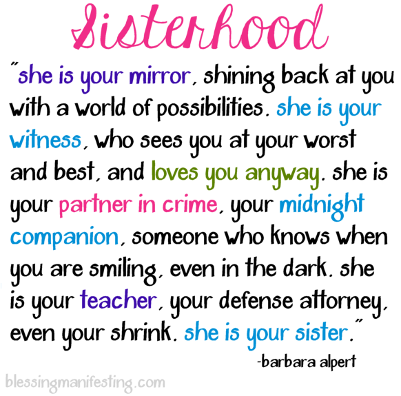 Sisterhood Quotes: Qoutes, Sister Poem And Poem